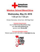 Blood Drive at Windsor School