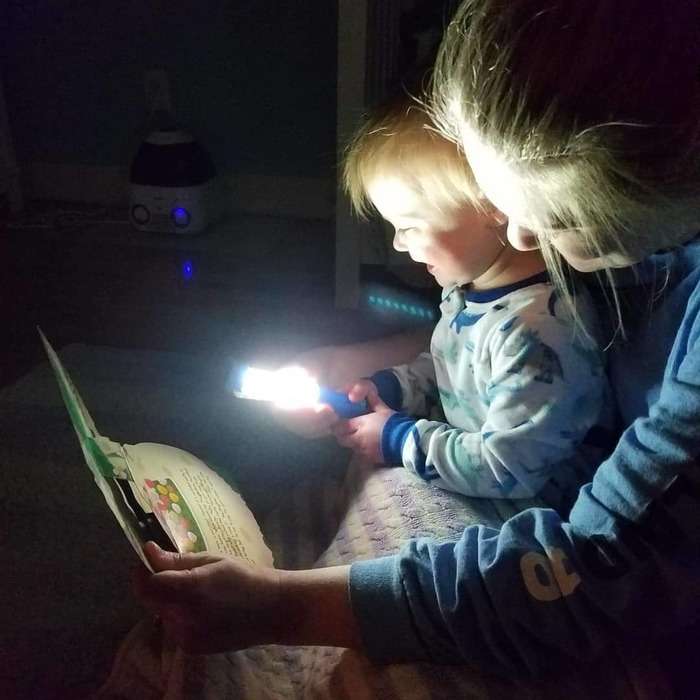 Reading with a flashlight . #readtome