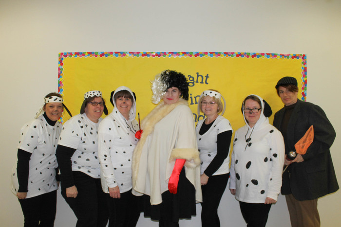 Cruella De Vil the puppy catcher and a few puppies visit us today at Windsor!