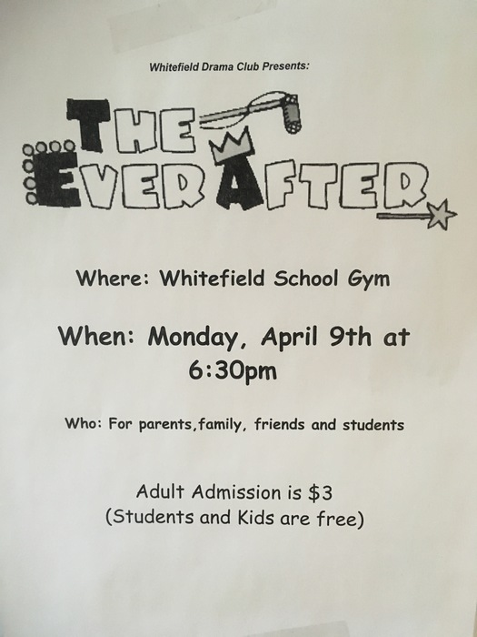 Please join us on Monday, April 9th for a  performance of The Ever After at 6:30pm