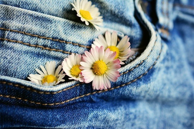 flowers in a pocket